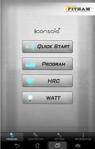 iConsole+ menu