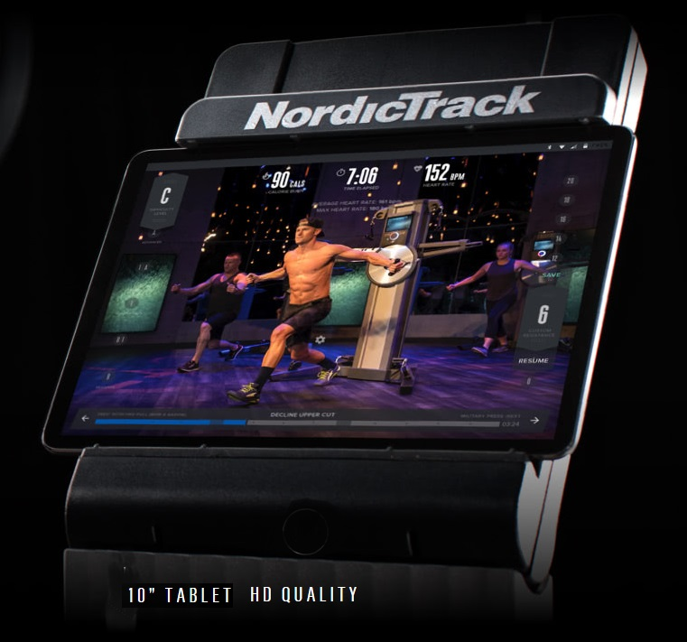 NordicTrack Fusion CST tablet