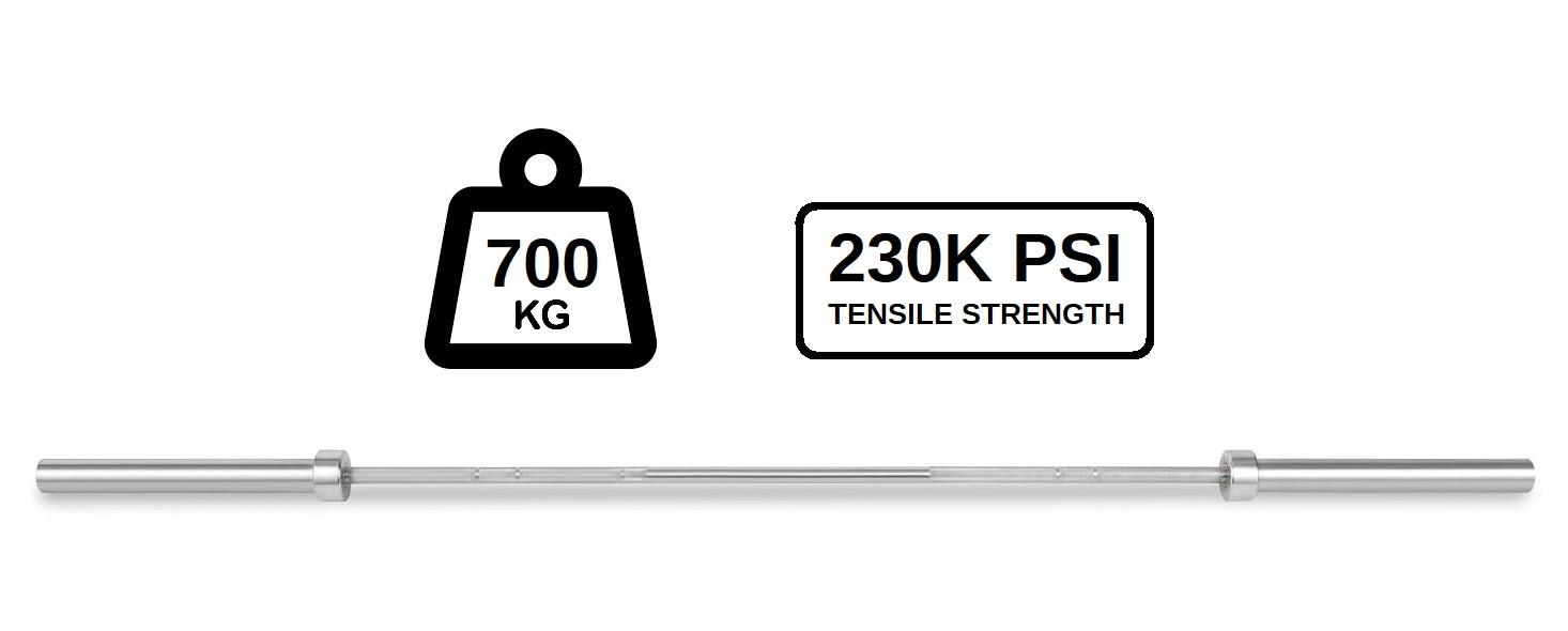 Olympijská osa 700 kg