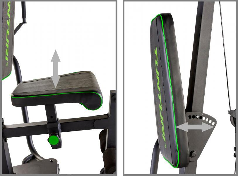 Tunturi HG40 Home nastavitelná opěrka a sedák