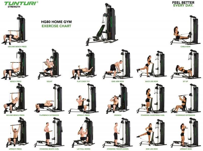 Tunturi HG80 Home Gym11