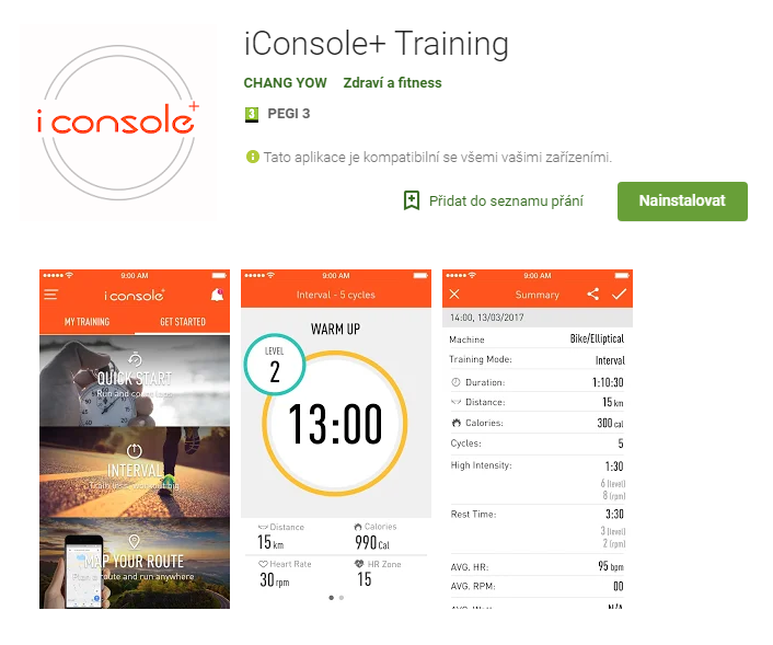 iconsole+ training