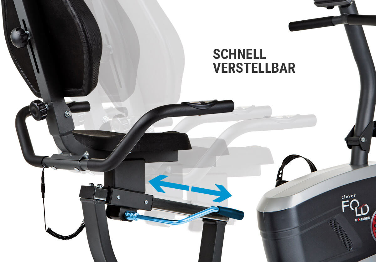 Trenažér Hammer Clever Fold RC5 polohovatelné sedadlo