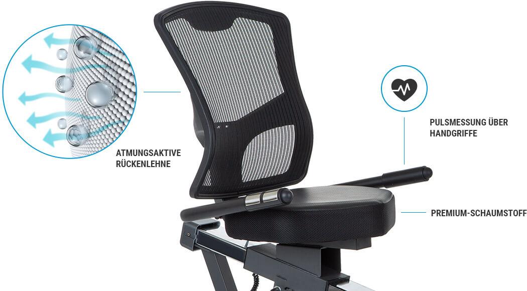 Trenažér Hammer Comfort Motion BT pohodlné sedadlo