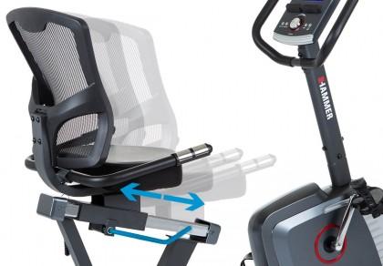 Trenažér Hammer Comfort Motion BT polohovatelné sedadlo