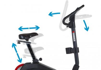 Hammer Cardio Motion BT nastavení sedla i řidítek