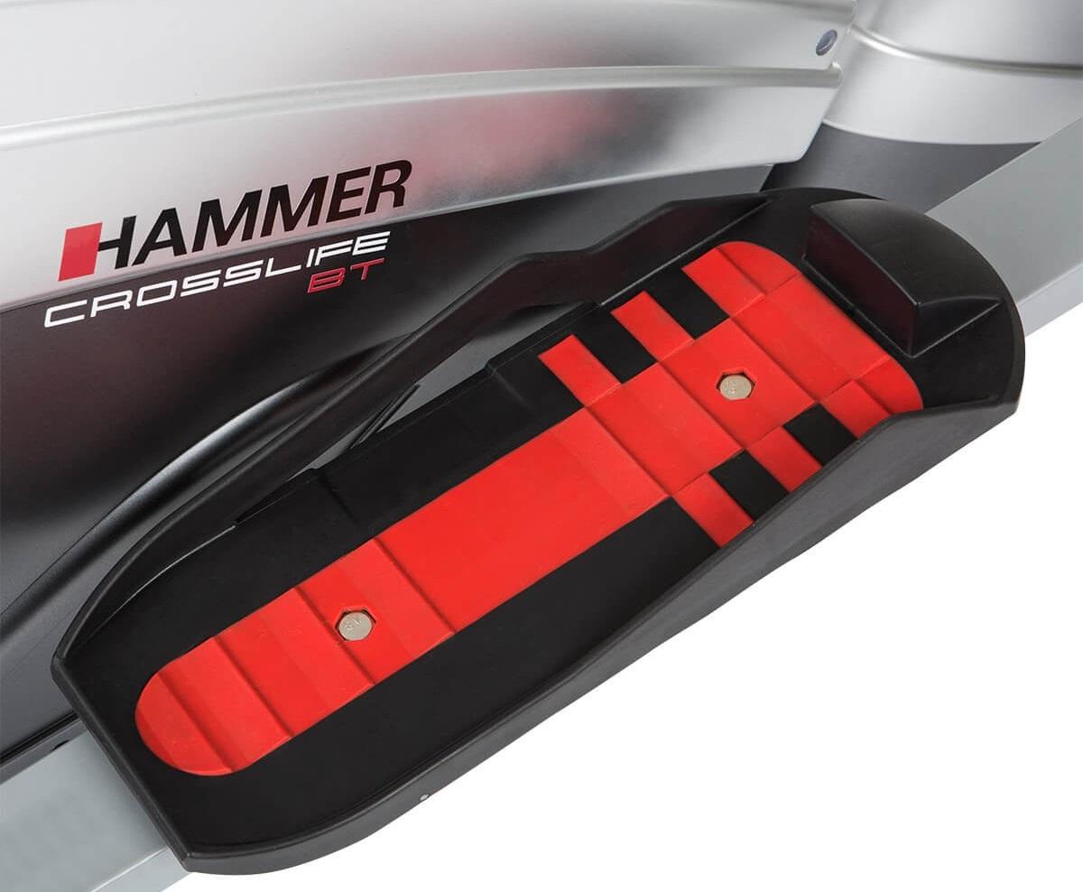 Eliptický trenažér Hammer Cross Motion BT nášlapy