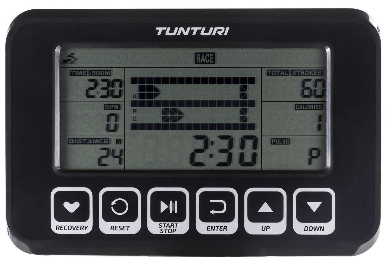 Veslovací trenažér Tunturi FitRow 70 počítač