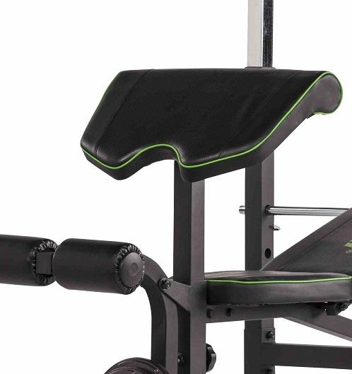 TUNTURI WB60 Olympic Width Weight Bench bicepsová opěrka