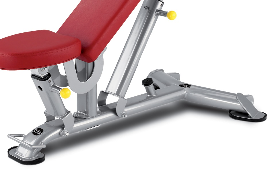 BH Fitness L825 MULTI-POSITION BENCH gumové patky