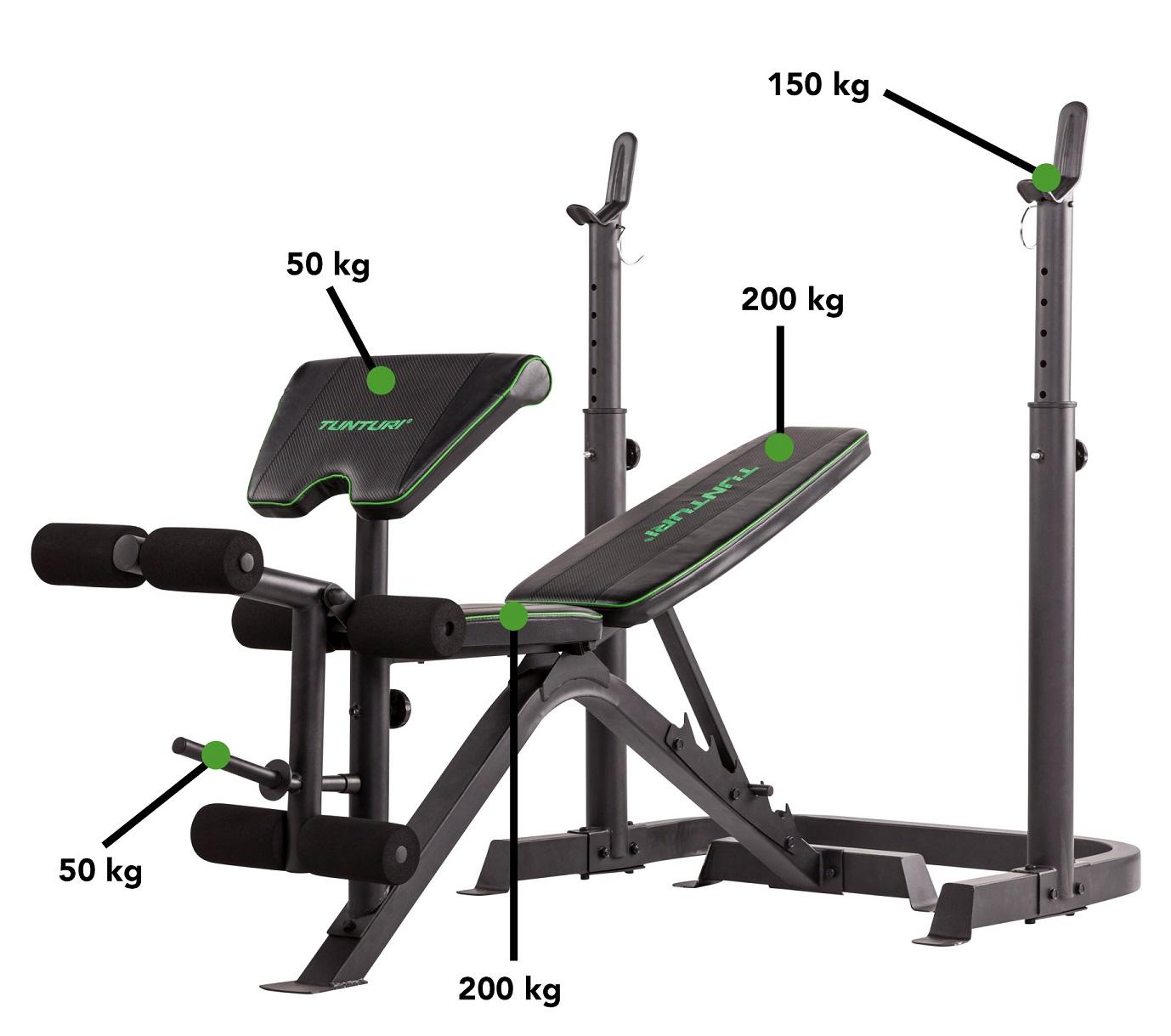 Tunturi WB50 Mid Width Weight Bench nosnosti