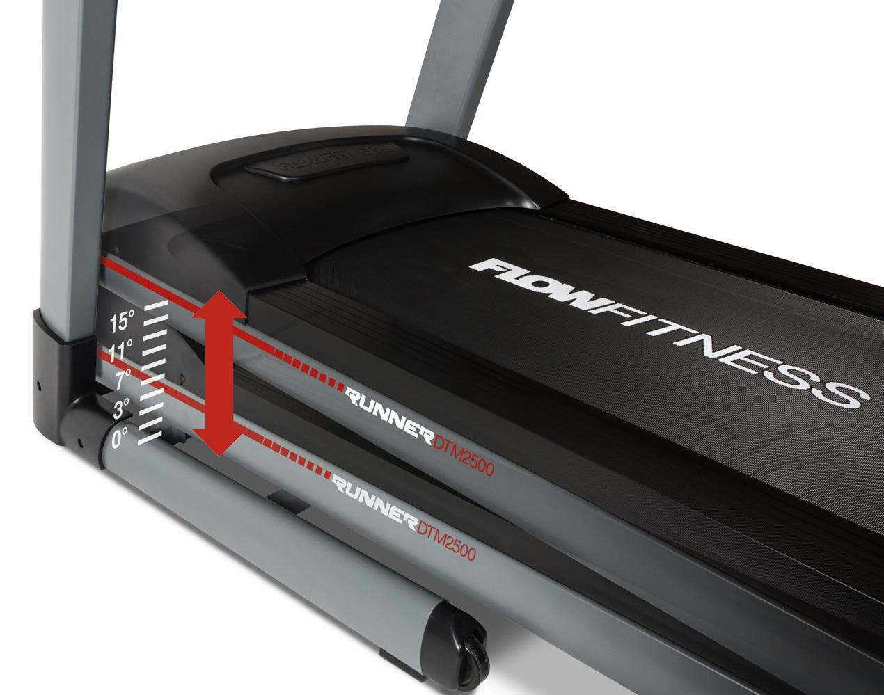FLOW Fitness DTM2500 nastavitelný sklon