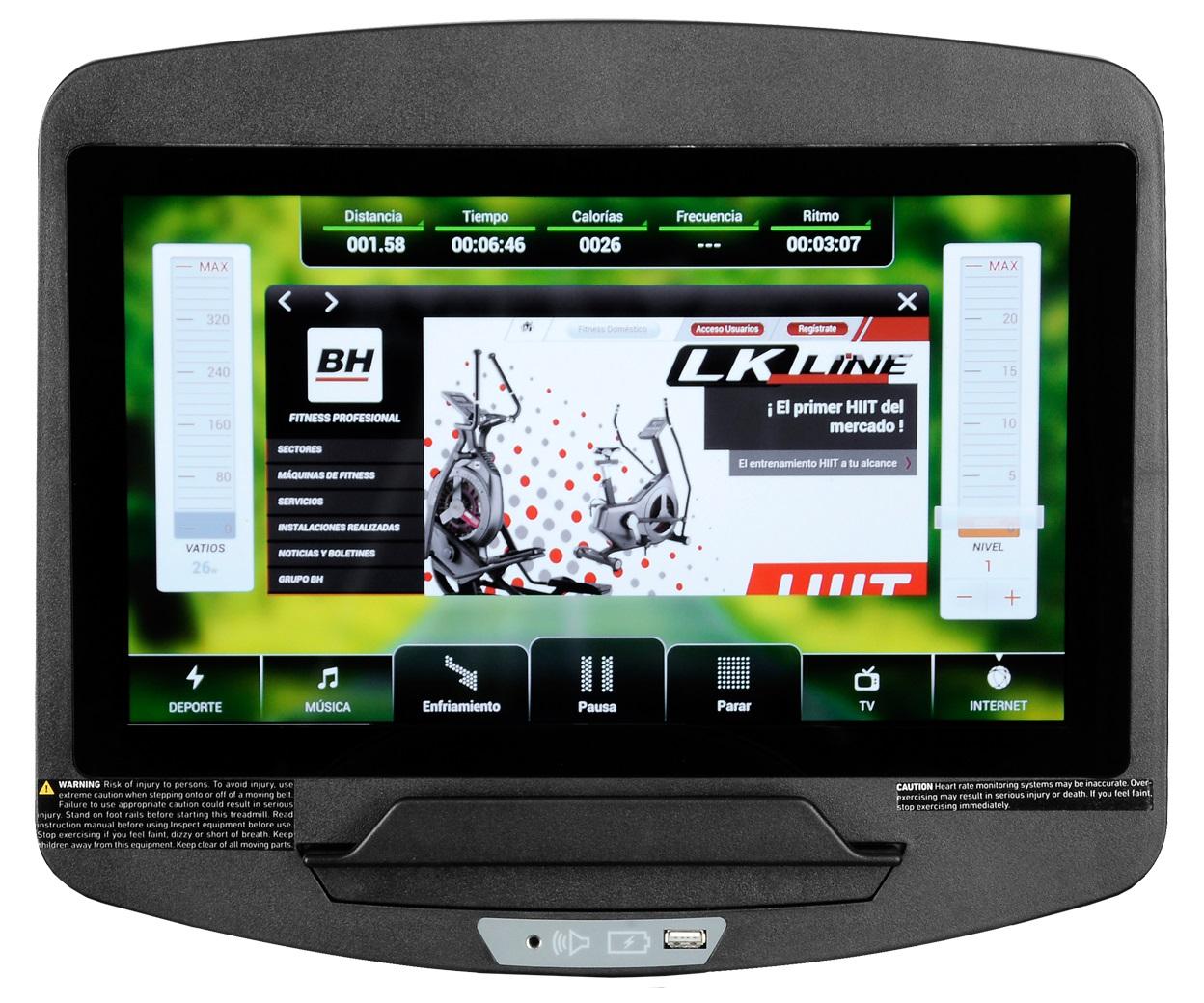 BH Fitness LK6800SmartFocus počítač