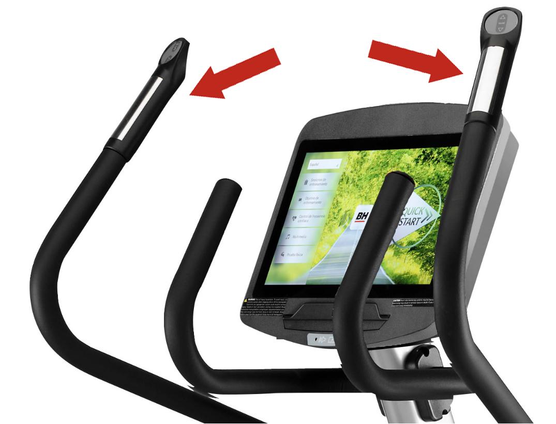 BH Fitness LK8150SmartFocus snímání tepu