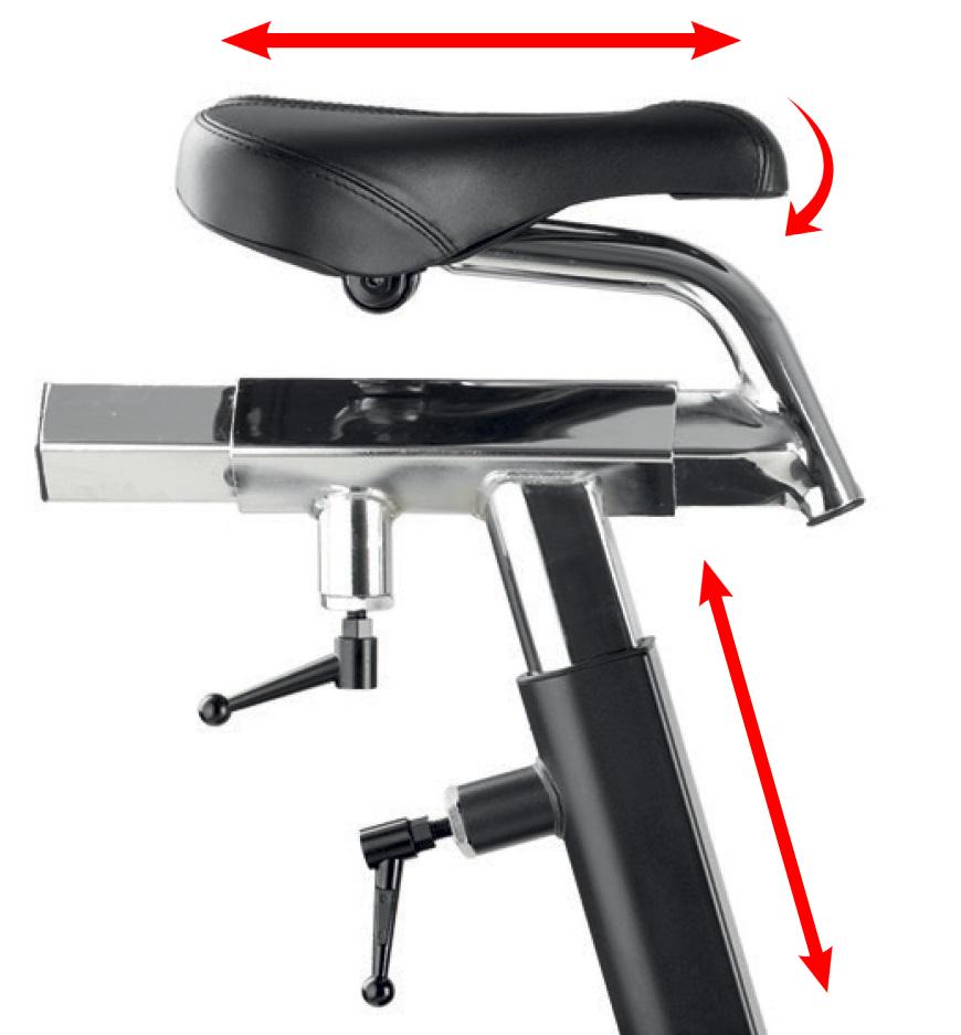 BH Fitness AirMag nastavení sedla