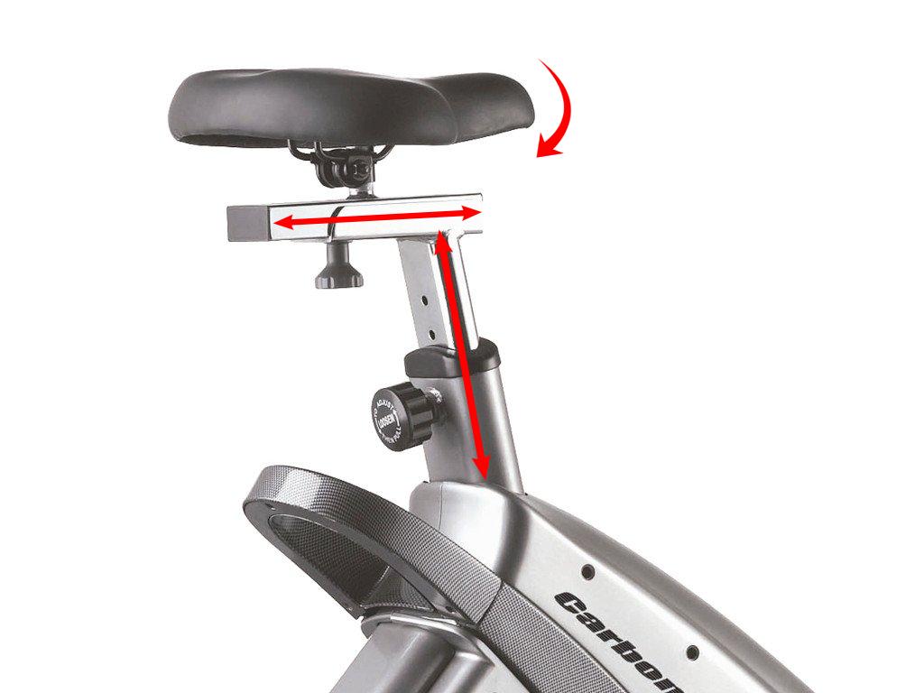 BH Fitness Carbon Bike Generatorsedlo