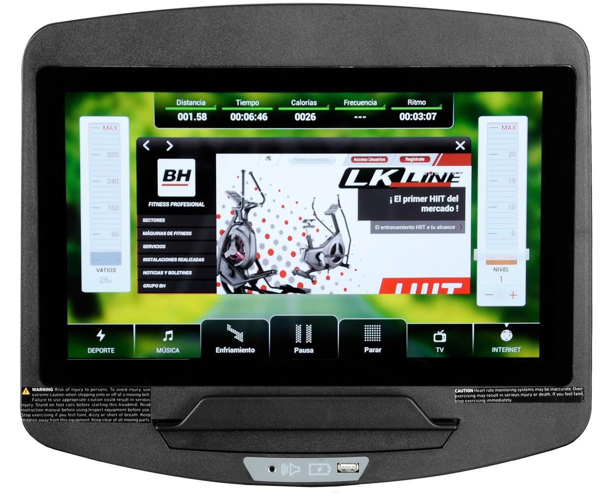BH Fitness LK6200SmartFocus počítač
