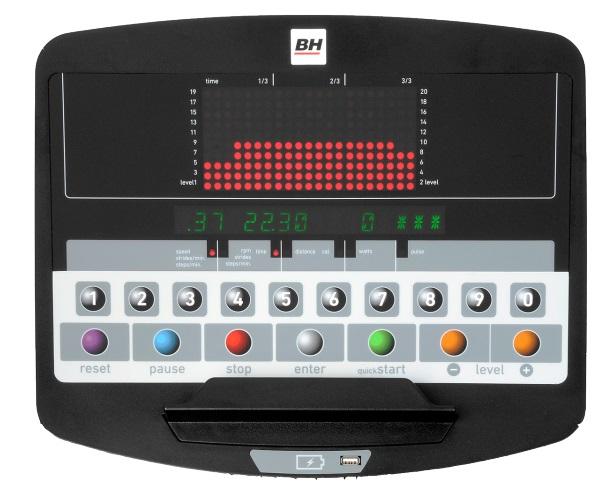 BH Fitness SK2500 LED počítač