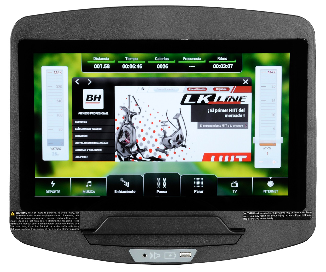 BH Fitness SK7990 SmartFocus počítač