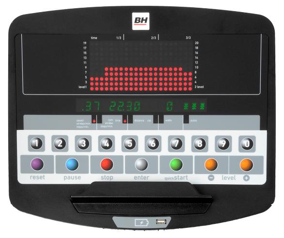 BH Fitness LK5500LED počítač