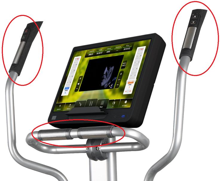"BH Fitness SK9300 SmartFocus 19"" hand pulse"