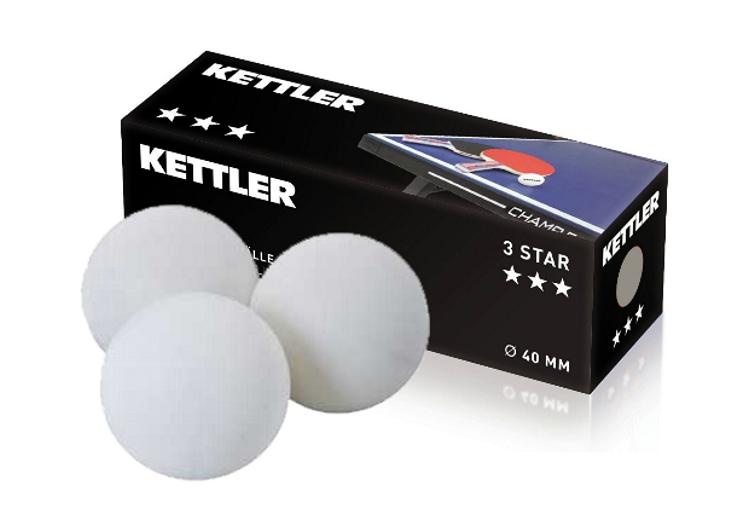 KETTLER míčky na stolní tenis 3 STAR