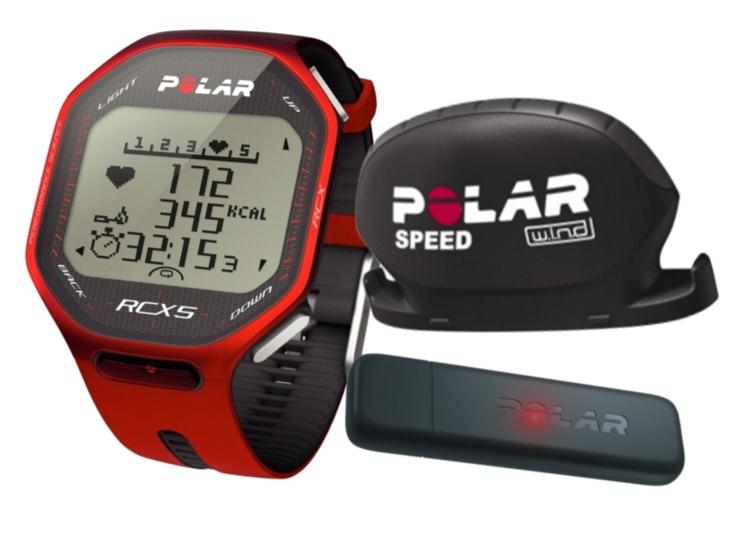 POLAR RCX5 bike + datalink červený