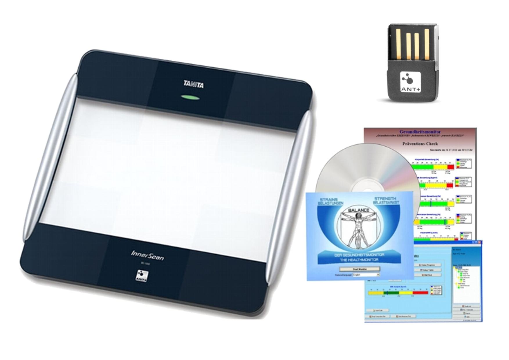 TANITA BC-1000 + USB ANT Stick + software GMON Standart