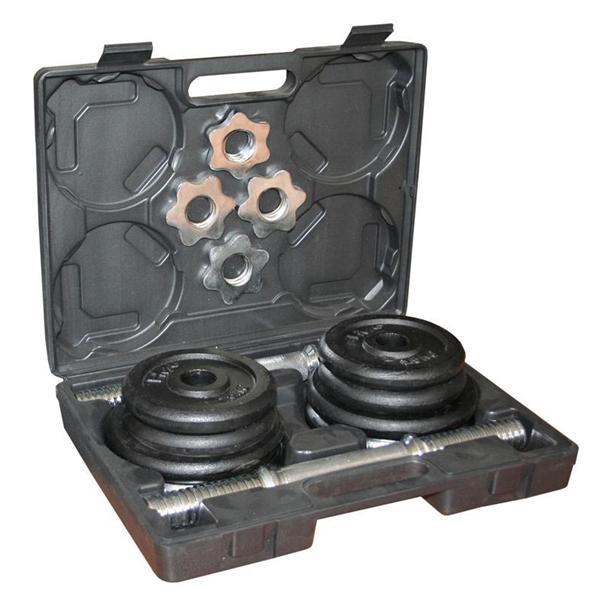Set činek 2x 10kg v kufříku