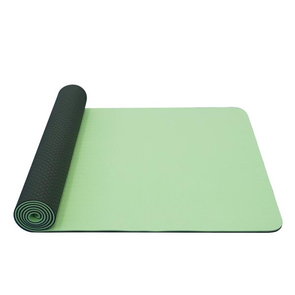 Jóga podložka TPE dvouvrstvá tmavě zelená/světle zelená
