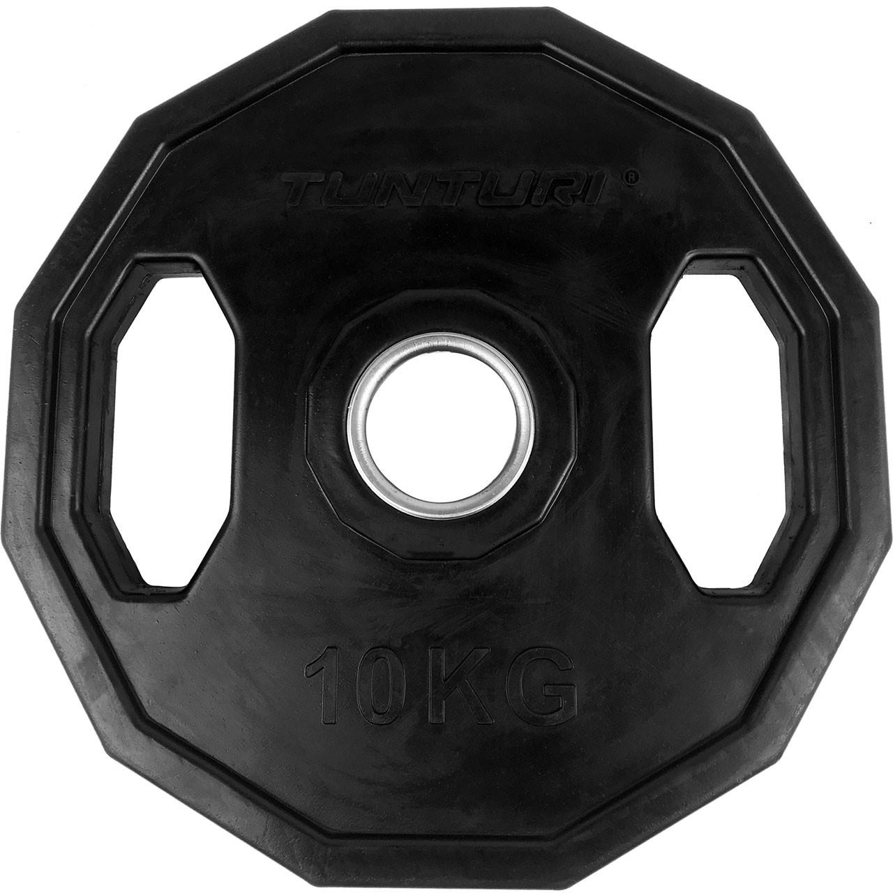 Kotouč olympijský pogumovaný 10 kg hranatý TUNTURI