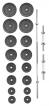 Set činek PREMIUM kovový 90 kg