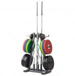Stojan na olympijské kotouče a osy TRINFIT Rack Olympic A
