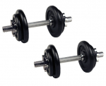 Set jednoručních nakládacích činek 2x 10 kg TRINFIT 30 mm