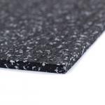 Sportovní gumová podlaha do fitness PROFI  CF 8 mm černo-šedá 15% vsyp