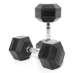 Jednoruční činka pogumovaná HEXA od 2,5 do 60 kg