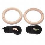 Gymnastické kruhy dřevěné s popruhy