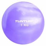 Jóga míč tónovaný 1 kg TUNTURI Toning ball fialový