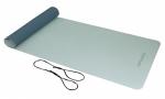 Jóga podložka TPE protiskluzová 4 mm TUNTURI s popruhem šedo-modrá