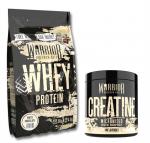 WARRIOR Whey Protein 1000 g + Creatine Micronised 300 g ZDARMA!