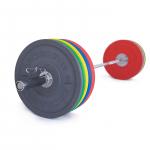 Olympijská činka TRINFIT 170 kg Bumper CrossGym
