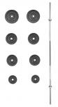 Nakládací činka PREMIUM kovová 30 kg