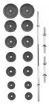 Set činek PREMIUM kovový 70 kg
