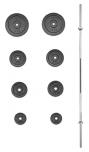 Nakládací činka PREMIUM kovová 45 kg