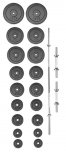 Set činek PREMIUM 120 kg