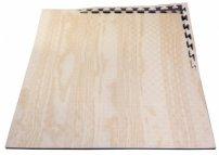 X-GYM TATAMI WOOD 100 x 100 x 2 cm černá-dřevo