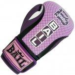 BAIL Boxerské rukavice ROYAL PINK 10 OZ kůže