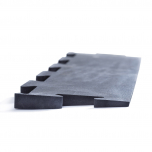 Náběhová hrana 100 cm pro podlahy CROSSFIT puzzle černá