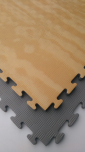 X-GYM TATAMI WOOD 100 x 100 x 2 cm šedá-dřevo