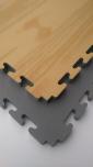 X-GYM TATAMI WOOD 100 x 100 x 3 cm šedá-dřevo
